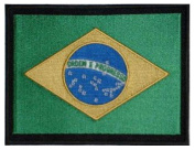 "Brazil Embroidered Patch 13cm x 10cm (approx) 5"" x 4"""