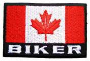 Canada Flag Biker Racing Team BF03 Embroidered iron on Patches