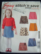 CHILDRENS SKORTS SIZE 3-4-5-6 EASY STITCH 'N SAVE BY MACCALLS PATTERN M4559