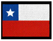 "Chile Embroidered Patch 13cm x 10cm (approx) 5"" x 4"""
