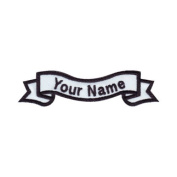 Custom Embroidered Banner Name Tag Sew On Patch