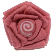 Cuteque International 3-Piece Felt Flower Patch, 6.4cm , Dusty Rose