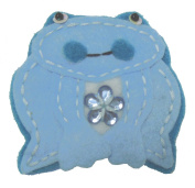 Cuteque International 6-Piece Felt Frog Patch, 5.1cm , Summer Sky