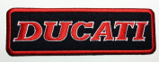 Ducati Patches (Red & black) 12x3.7 Cm Motorcycle Biker Patch Iron on Patch / Embroidered Patch This Appliques Are Great for T-shirt, Hat, Jean ,Jacket, Backpacks.
