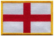 """England (St George) (embroidered) Patch 5""""x 4"""""""