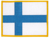 Finland Flag Embroidered Patch 12 X 9CM