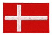 Flag Denmark Sew-on Iron-on Patches Embroidered Applique