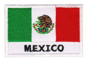 Flag Mexico Sew-on Iron-on Patches Embroidered Applique