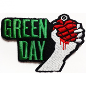 Green Day Patches 10.5x7 cm Music Band patches Embroidered iron/sew on Patch to Cloth, Jacket, Jean, Cap, T-shirt and Etc.