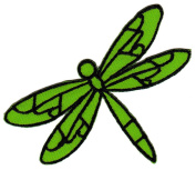 Green Dragonfly Sew-on Iron-on Patches for Kids, Children, Baby Embroidered Applique