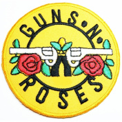 Guns N Roses patches 19x19 cm Rock Music Band Patches Embroidered iron/sew on Patch to Cloth, Jacket, Jean, Cap, T-shirt and Etc.