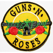 Guns N Roses patches 7.5x7.5 cm Rock Music Band Patches Embroidered iron/sew on Patch to Cloth, Jacket, Jean, Cap, T-shirt and Etc.