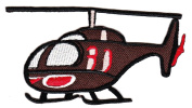 Helicopter Chopper Helo Heli Whirlybird Sew-on Iron-on Patches Embroidered Applique