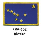 5.1cm - 1.3cm X 7.6cm - 1.3cm State Embroidered Patch Alaska