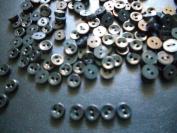 100 Pcs Tiny Button, Micro Button 2hole Size 6 Mm Black