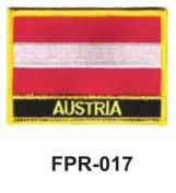 5.1cm - 1.3cm X 7.6cm - 1.3cm Flag Embroidered Patch Austria