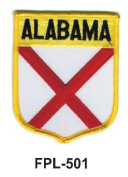 7.6cm - 1.3cm State Flag Embroidered Patch (Shield) Alabama