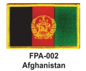 5.1cm - 1.3cm X 7.6cm - 1.3cm Flag Embroidered Patch Afghanistan