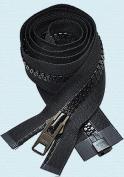 90cm Vislon Zipper ~ YKK #10 Moulded Extra-Heavy Separating - 580 Black