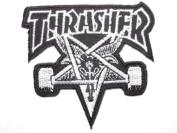 THRASHER Skate Goat Pentagram Iron On Sew On Skater Punk Embroidered Patch