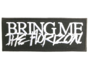 "BRING ME THE HORIZON Logo Deathcore Metal Patch 4""/10.2cm x 1.5""/4cm By MNC Shop"