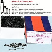 Safety Pins - Black Safety Pins Size #0 - Length 2.2cm