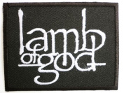 """LAMB OF GOD Logo Iron On Band Patch 2.6""""/7cm x 2.1""""/5.5cm By MNC Shop"""