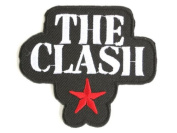 "THE CLASH Star Logo Iron On Punk Embroidered Patch 2.9""7.5cm x 2.5""/6.5cm By MNC Shop"