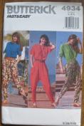 Butterick Pattern 4934 Misses' Top and pants Size L-XL