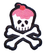 Cupcake Skull Patch