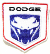 Dodge Viper Head Mopar Truck Logo Jacket T-shirt Patch Sew Iron on Embroidered Badge Emblem Sign Size 7.6cm width X 8.3cm height ?? ??? ????
