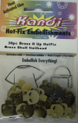 Kandi Hot Fix 36 Pc Brass It up Hot Fix Brass Skull Nailhead