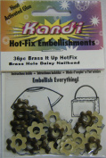 Kandi Hot Fix 36 Pc Brass It up Hotfix Brass Hole Daisy Nailhead