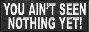 YOU AIN'T SEEN NOTHING YET FUN FUNNY NEW Embroidered Biker Vest Patch! PAT-2981