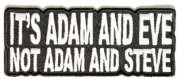 Its Adam And Eve Not Steve Christian Embroidered Funny Biker Vest Patch PAT-2321
