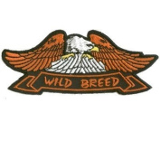 EAGLE WILD BREED Embroidered Quality Biker Vest Patch!!