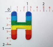 H Rainbow Letter Words Alphabet Embroidered Iron on Patch Sew on DIY Patches