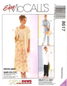 McCall's Sewing Pattern 8617 Misses' Shirt, Pull-on Pants & Skirt, Size F
