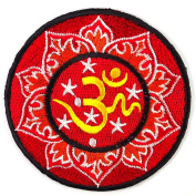 Aum Om Infinity Hindu Hinduism Yoga Circle Applique Novelty Embroidered Iron On Patches ## WITH FREE GIFT