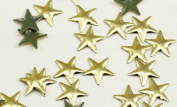 10mm Gold Star Hotfix Nailheads - 100 Pieces
