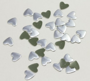 10mm Silver Heart Hotfix Nailheads - 100 Pieces