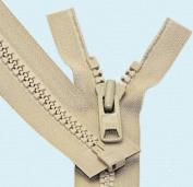 90cm Vislon Zipper ~ YKK #10 Moulded Extra-Heavy Separating - 573 Beige