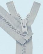 90cm Vislon Zipper ~ YKK #10 Moulded Extra-Heavy Separating - 119 Lite Grey