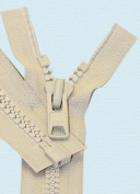 90cm Vislon Zipper ~ YKK #10 Moulded Extra-Heavy Separating - 572 Lite Beige