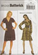 Butterick B5243, Misses' Dress, Size FF(16-22), OOP