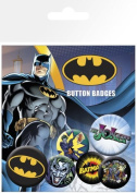 Batman - DC Comics 6 Piece Button / Pin / Badge Set