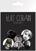 Kurt Cobain - 6 Piece Button / Pin / Badge Set