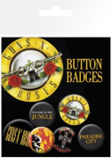 Guns N Roses - 6 Piece Button / Pin / Badge Set
