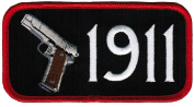 1911 Pistol Iron-On Patch Gun Owner Second Amendment Embroidered New