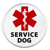 Medical Alert SERVICE DOG Symbol 7.6cm Sew-on Patch